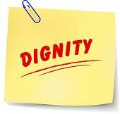 Постер, плакат: Dignity Message