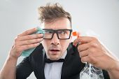 foto of spectacles  - Funny half - JPG