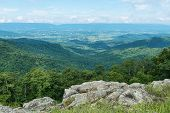 foto of virginia  - Mountain Vista from Franklin Cliffs Overlook Skyline Drive Shenandoah National Park Virginia - JPG