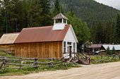 picture of rebuilt  - Town hall and museum rebuilt after fire in ghost town of St Elmo in Colorado - JPG
