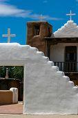 stock photo of pueblo  - San Geronimo Chapel in Taos Pueblo USA - JPG