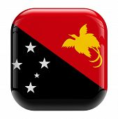 stock photo of papua new guinea  - Papua New Guinea flag icon on white - JPG
