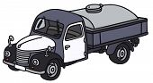 pic of truck farm  - Hand drawing of a classic dairy tank truck  - JPG