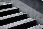 stock photo of concrete  - stair concrete staircase at the entrance to the building - JPG