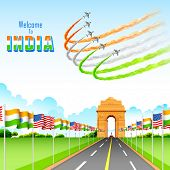 picture of india gate  - illustration of India - JPG