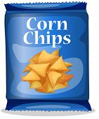 image of corn  - Illustration of a bag of corn chips - JPG