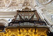 picture of pipe organ  - Detail of a 2 century old organ in a Spanish Catholic Church - JPG