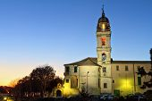 foto of genova  - San Francesco da Paola church at evening Genova Italy - JPG