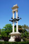 picture of christopher columbus  - Christopher Columbus monument in the park  - JPG