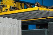 image of asbestos  - Production slate asbestos material in the factory - JPG