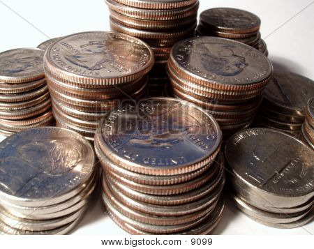 Stacks Of Coins poster