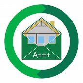 stock photo of environmentally friendly  - House Eco Creen Building Envelope - JPG
