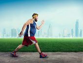 picture of morbid  - Fat man running - JPG