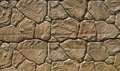 pic of tile cladding  - Brown cladding tiles imitating stones in sunny day - JPG