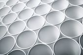 stock photo of semen  - Large group of disposable plastic cups - JPG