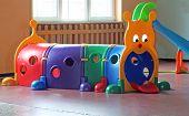 foto of nursery school child  - plastic tunnel for children - JPG