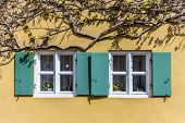 picture of social housing  - window in the Fuggerei the worlds oldest social housing complex in Augsburg - JPG