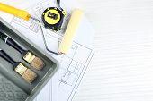 foto of interior decorator  - Construction instruments - JPG