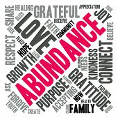 image of abundance  - Abundance word cloud on a white background - JPG