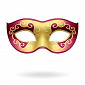 stock photo of masquerade mask  - The vector illustration of a carnival mask - JPG