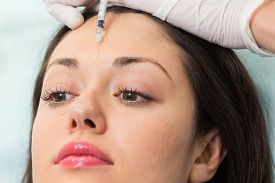 picture of cosmetic products  - Cosmetic injection in the spa salon - JPG