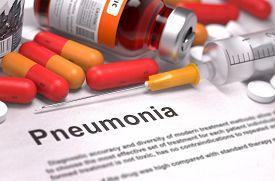 stock photo of pneumonia  - Diagnosis  - JPG