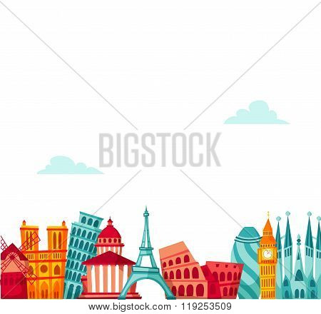 Europe travel background