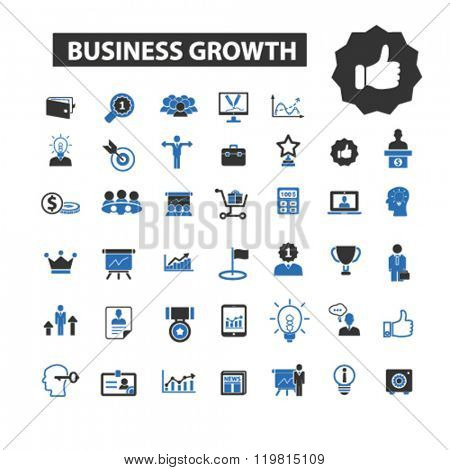 business growth icons, business growth logo, business growth vector, business growth flat illustrati