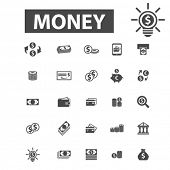 Постер, плакат: cash icons cash logo money icons vector money flat illustration concept money infographics eleme