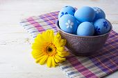 ������, ������: Light Blue Decorated Easter Eggs