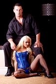 Постер, плакат: Сексуальная пара женщина в белье
