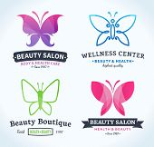 Beauty And Health Logo, Icons And Design Elements poster