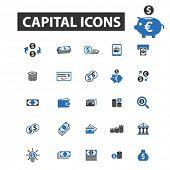 Постер, плакат: capital icons capital logo capital vector capital flat illustration concept capital infographics
