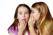 picture of laughable  - two girls sharing secrets - JPG