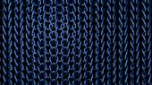 Interlaced Blue Material Strands poster