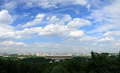 stock photo of gory  - Stadium Luzhniki, Moscow, summer.