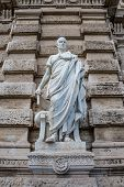 Statue Of A Nobel Roman Lawyer Papinianus, In Front Of The Palace Of Justice, Rome, Italy poster