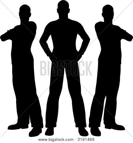 Three Men Silhouette Poster ID:3191469