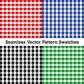 Tablecloth Check Patterns, Vector File Includes Four Swatches That Seamlessly Fill Any Shape, Red, B poster