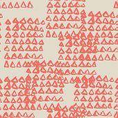 Maroon And Beige Tie Dye Seamless Pattern.  Shibori Seamless Print. Watercolor Hand Drawn Batik.  Ha poster