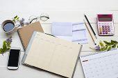 Saving Account Passbook Bank ,statement Due Expenses Of Credit Card ,calendar ,notebook Planner ,cal poster
