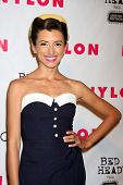 LOS ANGELES - APR 10:  India de Beaufort arrives at the NYLON Magazine 13th Anniversary Celebration