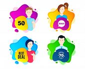 Best Deal. People Shape Offer Badge. Special Offer Sale Sign. Advertising Discounts Symbol. Dynamic  poster