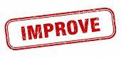 Improve Stamp. Improve Square Grunge Sign. Improve poster