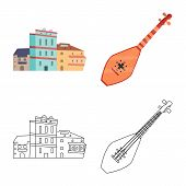 Vector Design Of Culture And Sightseeing Logo. Collection Of Culture And Originality Vector Icon For poster