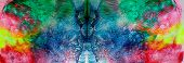 Artwork. Close Up Of Rose Pink Watercolor Painting Art Background, Abstract Watercolor Painting Art. poster