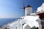 Windmill at Santorini island, Greece