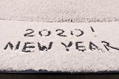 The Inscription 2020 On The Snow. The Inscription On The Car. The Concept Of A New Year poster