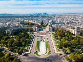 Palais De Chaillot Is A Building At The Top Of The Chaillot Hill In The Trocadero Area In Paris, Fra poster