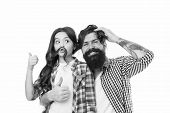 Father And Kid. Little Girl Kid Love Father. Happy Family, Happy Kid. Bearded Man Father With Kid. F poster